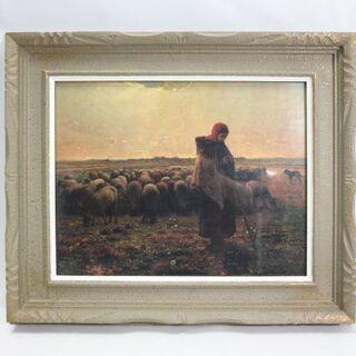 美品☆心に宿る世界の名画 A.C.P絵画 ミレー 羊飼いの少女 ...