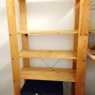 【無料★8/19までの引き取り限定】IKEA木製シェルフ