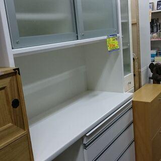 (ソフトクローズタイプの)松田家具 2面レンジボード 高く…