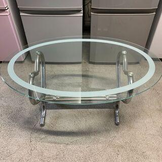【格安】おしゃれなガラステーブル ローテブル ハートスチー…
