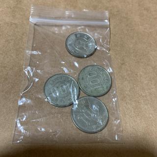 【ネット決済・配送可】古銭 昭和41年100円×4枚(手渡OK)