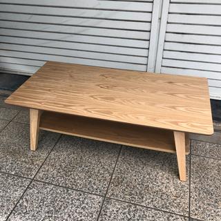 #5592 天然木 木製ローテーブル 台座付き