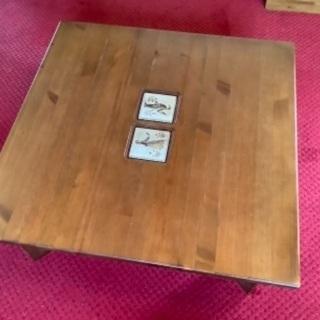 【ネット決済】タイル埋め込み 北欧風テーブルです。
