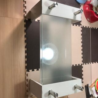 【ネット決済】幅88センチ 奥行き48センチ  ガラステーブル
