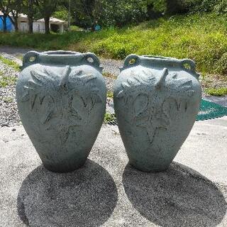 花瓶 壷 2個