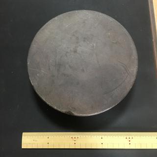 硯 蓋付 丸硯 丸形硯 円形硯 サイズ直径 約20cm - その他