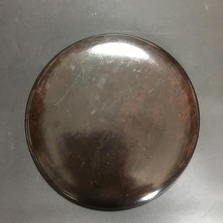 硯 蓋付 丸硯 丸形硯 円形硯 サイズ直径 約20cm − 愛知県