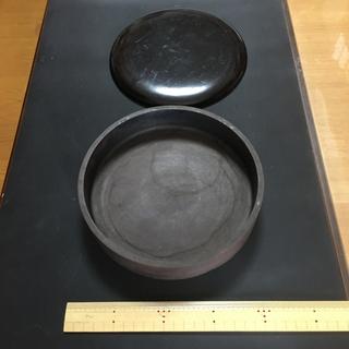 硯 蓋付 丸硯 丸形硯 円形硯 サイズ直径 約20cm