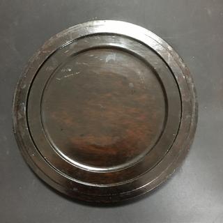 硯 蓋付 丸硯 丸形硯 円形硯 サイズ直径 約20cm - 売ります・あげます