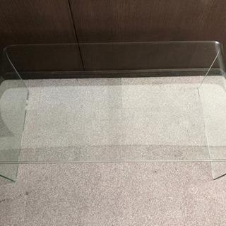 ◆一枚ガラステーブル◆スタイリッシュ モダン