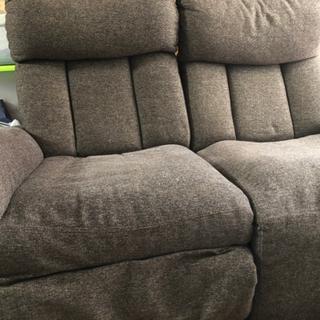 ニトリ  2人用 ソファー 手動リクライニング付き