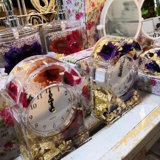 【女子力アップ!】アクアリウム雑貨 花柄雑貨 クリスタルオブジェ...