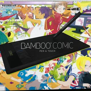 お話し中【美品】Wacom ペンタブレット Sサイズ ブラック イラスタMini&コミスタMini付属 Bambooコミック CTH-470/K2の画像