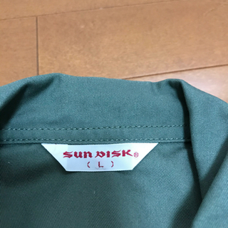 【美品】SUNDISK日の丸繊維 カーキ色ツナギL寸 元値約8千円 − 福井県