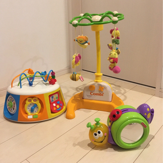 メリー 知育玩具 おもちゃ 3点セット コンビ