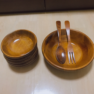 【新品未使用品】天然木食器セット