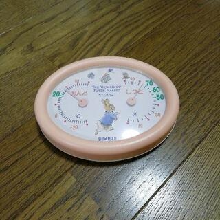 ピーターラビットの温湿度計、中古