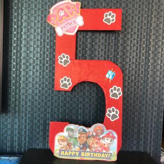 5歳の誕生日飾り パウパトロール 手作り