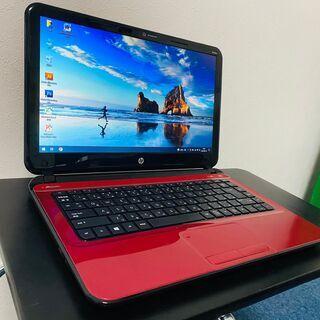 ★赤いノートPC★ HP 14-b107AU SSD120GB ...