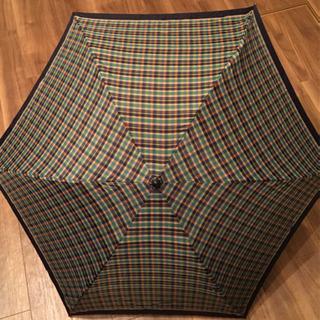 ギンガムチェク 折りたたみ傘 袋付き