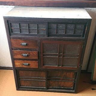 【ネット決済】明治時代初期頃のレトロ収納家具 当時物