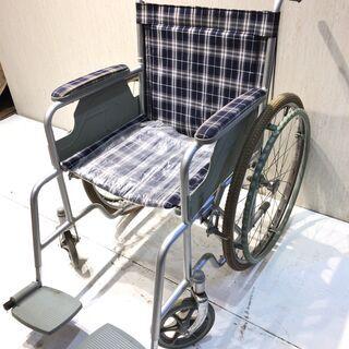 ■5505■車椅子 車イス 自走式 折りたたみ チェック …