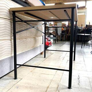 札幌近郊 送料無料 LOWYA (ロウヤ) パソコンデスク デスク 机 天然木板 木製 スチール脚 幅100cm - 売ります・あげます