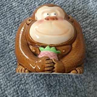 ゴリラの貯金箱 陶器