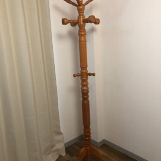 【ネット決済】木製ハンガー 高さ約185cm 足幅約50cm