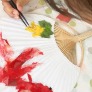 8/24(火)追加開催 【和紙ちぎり絵】うちわ作り教室♩