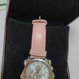 あらいぐまラスカルの腕時計ピンク