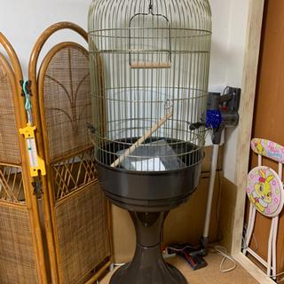 【ネット決済】ファープラスト 鳥籠 中型 スタンドセット ゴールド