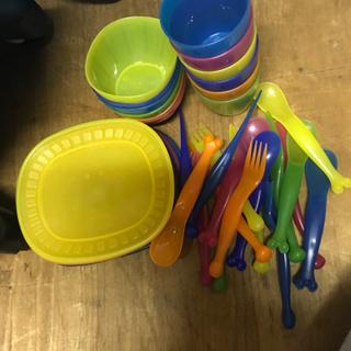 IKEA 食器 子供用 プラスチック 離乳食 カトラリー …