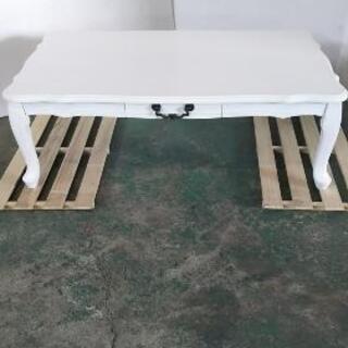 ☆可愛いおしゃれローテーブル ホワイト幅101☆