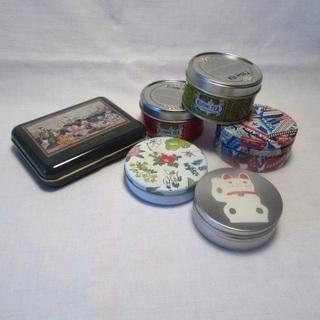 ハンドメイドに使える、小さめの空き缶 6個