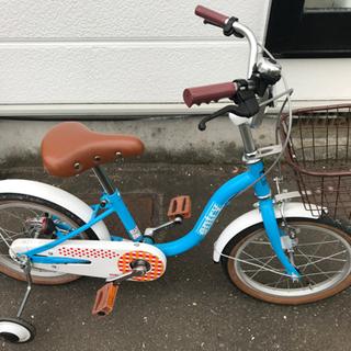【ネット決済】交渉中)補助輪つき自転車、16インチ