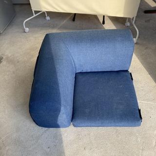 【直接引き取りOK】コーナーソファ 連結 椅子 生地 現状品