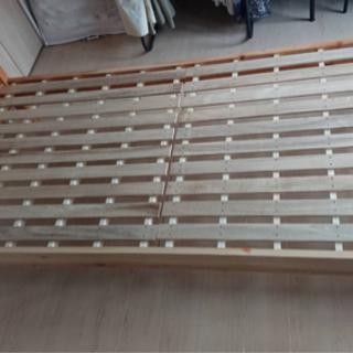 シングルサイズ すのこベッド ライトブラウン 組立可能