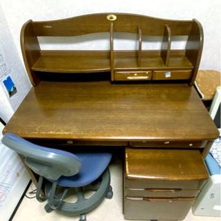 椅子付き学習机(傷・汚れ有)