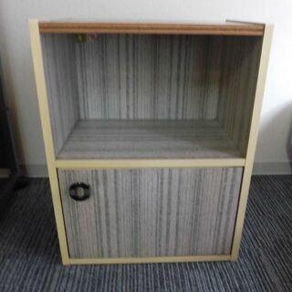 JM12427)2段カラーボックス/収納棚 1個 扉付き 幅:約...