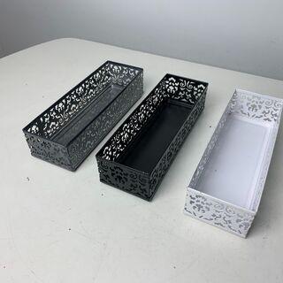 (210818) カトラリーケース(白・黒・グレー) 複数個あります。