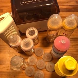 ピジョン 哺乳瓶セットと未使用の哺乳瓶洗剤