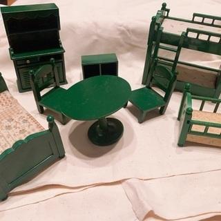 シルバニアファミリー 緑の家具セット