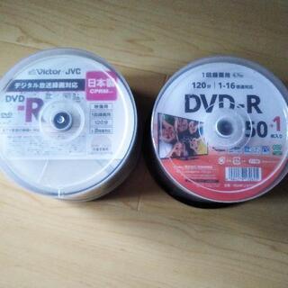 【未使用】DVD-R(1回録画用) 100枚(ビクター DVD-...