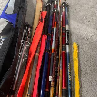 【大量】釣り竿 まとめ売り SHIMANOバッグ付き イロイロ 海釣り 川釣り 早いもの勝ち! 配送OK - 札幌市