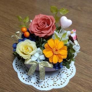 【新品】🌹枯れないお花🌹 プリザーブドフラワー⑦(ハート型の器)