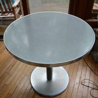 アメリカンダイナーデザインの丸テーブル、ダイナーコンセプトレスト...