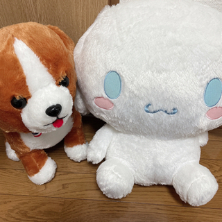 【受け渡し決定】ぬいぐるみ (シナモン、犬)