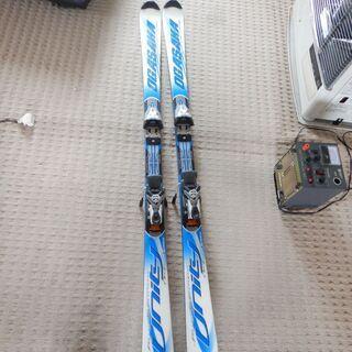 スキー板・ビンディング付き・ストック付き スキー OGAS…