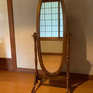 天然木姿見鏡
